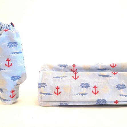 Duo masque et housse de gel maritime bleu
